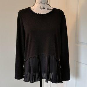 Fleece peplum sweater